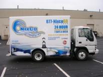 White Truck Box Advertising