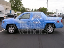 Blue Dealer SUV Truck  Wrapping
