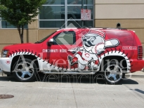 Red SUV Wrapping