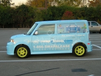 Blue Scion Wrapping